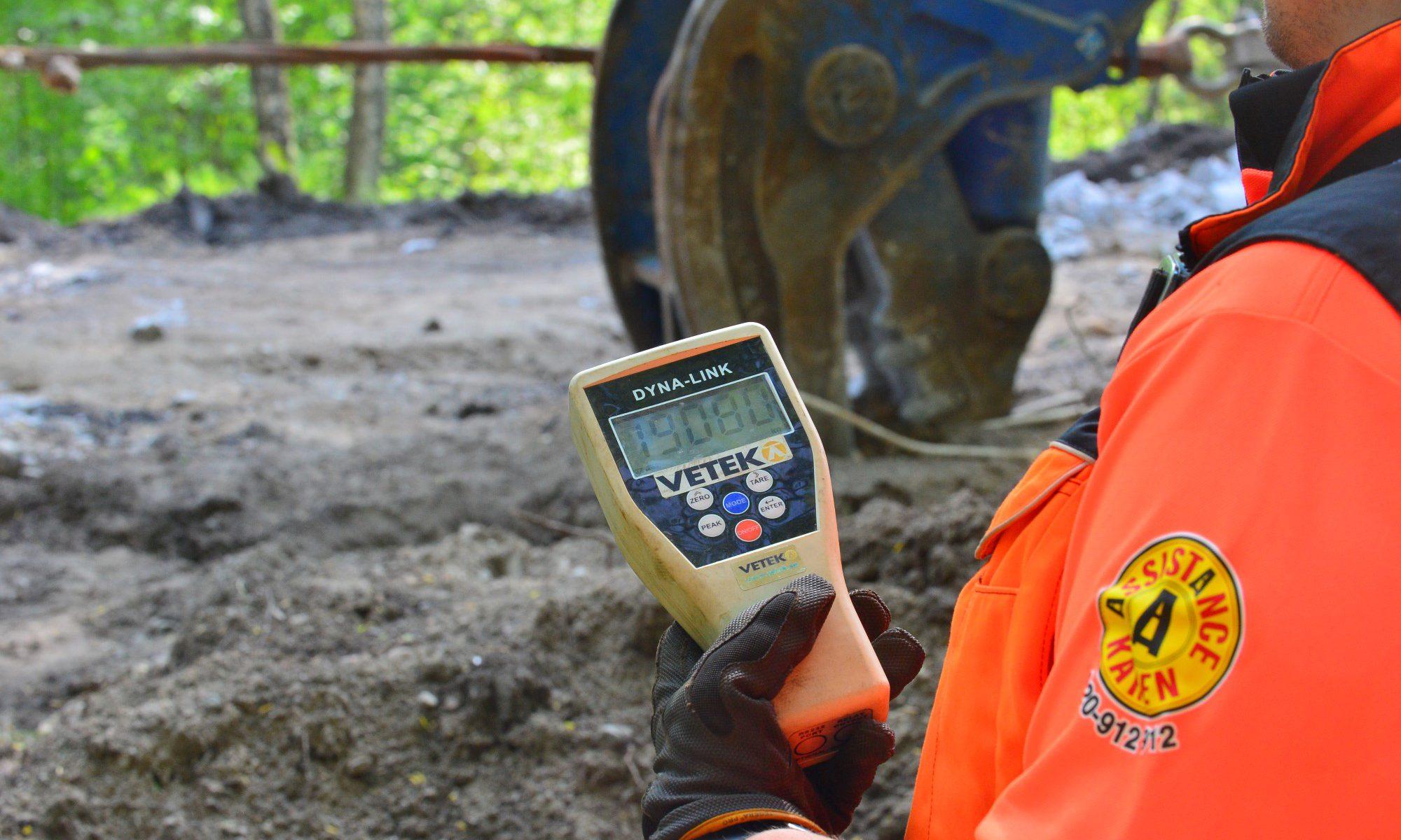 Assistancekåren Västra Mälardalen dynamometer vid tungbärgning