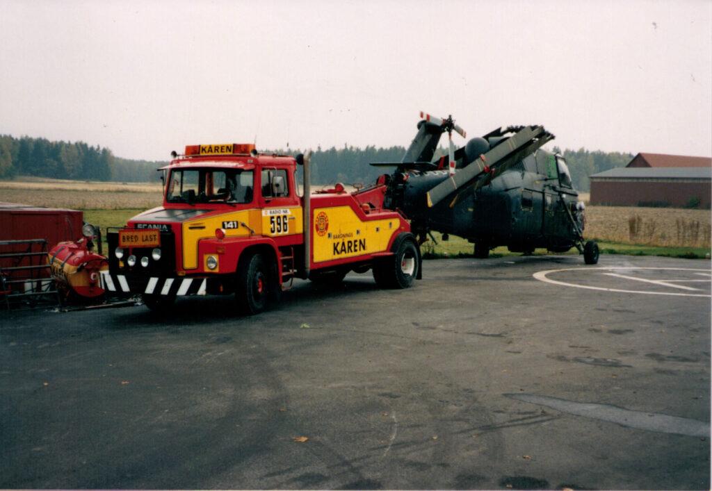 Bärgning av helikopter