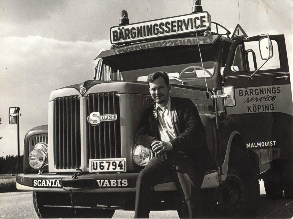 Janne med Scania 76 bärgare